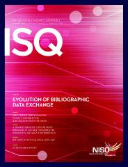 Cover of Information Standards Quarterly 25/4, Winter 2013