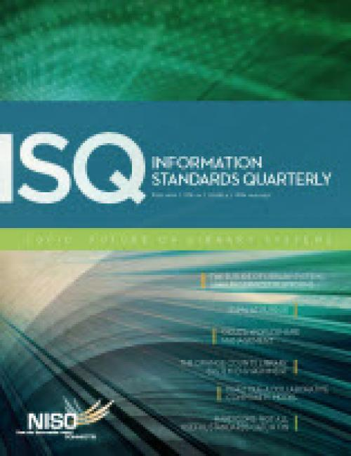 Cover of Information Standards Quarterly, Fall 2012