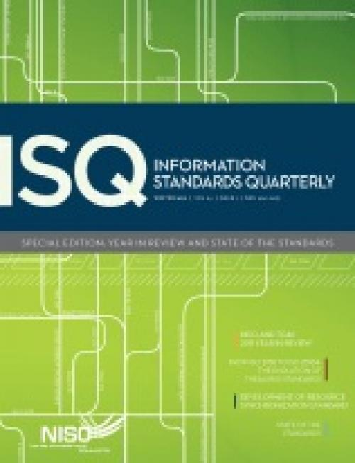 Cover of Information Standards Quarterly, Winter 2012