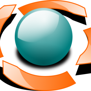 sphere shown with four arrows encircling it representing product lifecycle