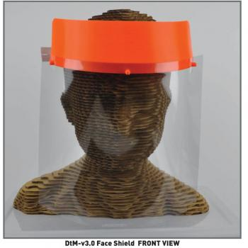 Plastic Face Shield Covers from Individual from Forehead to Shoulders
