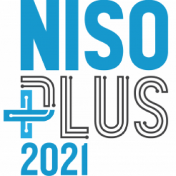 Blue and Black Graphic for NISO Plus 2021