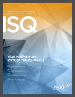 Cover of Information Standards Quarterly, Spring 2014