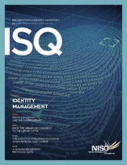 Cover of Information Standards Quarterly 26/3, Fall 2014
