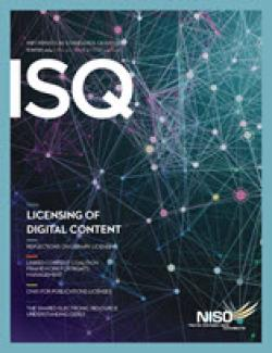 Cover of Information Standards Quarterly 26/4
