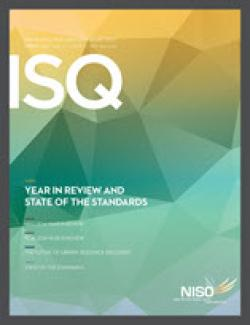 Cover of Information Standards Quarterly, Spring 2015