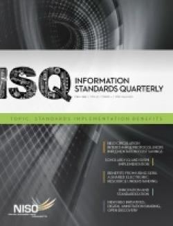 Cover of Information Standards Quarterly, Fall 2011