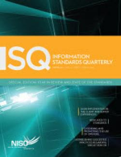 Cover of Information Standards Quarterly, Winter 2011